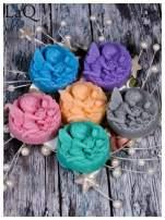 LaQ Mydełko duże Anioł z różami w medalionie - niebieski / Zapach - wata cukrowa BEZ SLS i SLES                                  zdj.                                  3