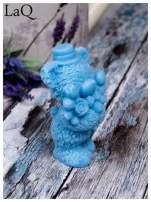LaQ Mydełko duże Miś z bukietem - niebieski / Zapach - wata cukrowa BEZ SLS i SLES                                  zdj.                                  8