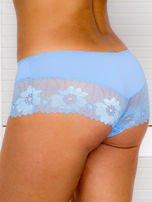Majtki szorty damskie z koronką 2-pak różowo-niebieskie                                  zdj.                                  3