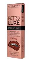 Makeup Revolution Retro Luxe Metallic Lip Kit Zestaw do ust konturówka 1g + pomadka w płynie 5,5ml Empire                                   zdj.                                  4