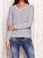Melanżowy sweter z kolorową nicią                                  zdj.                                  1