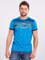 Męski t-shirt bawełniany jasnoniebieski                                  zdj.                                  5