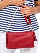 Miękka czerwona torebka z chwostem                                  zdj.                                  3