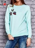 Miętowa bluza z naszywkami                                  zdj.                                  1