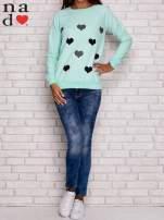 Miętowa bluza z serduszkami                                  zdj.                                  2
