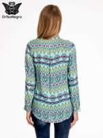 Miętowa koszula w azteckie wzory                                                                          zdj.                                                                         4