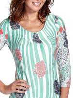 Miętowa sukienka w kwiatowe i geometryczne wzory                                  zdj.                                  6