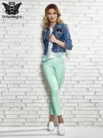 Miętowe spodnie rurki skinny                                  zdj.                                  2