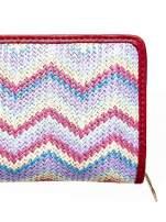 Miętowy pleciony portfel w geometryczne wzory                                                                          zdj.                                                                         5