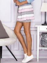Mini spódnica z falbankami szara                                  zdj.                                  2
