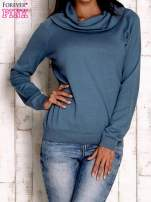 Morski sweter z szerokim golfem                                  zdj.                                  1