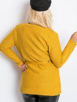 Musztardowy sweter plus size Vibe                                  zdj.                                  2