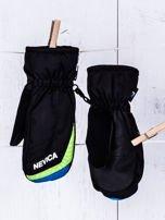 NEVICA Ocieplane wodoodporne dziecięce rękawiczki narciarskie czarne                                  zdj.                                  3