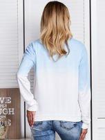 Niebieska bluza ombre z napisem                                  zdj.                                  2