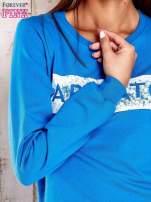 Niebieska bluza z napisem ARIGATO                                  zdj.                                  4