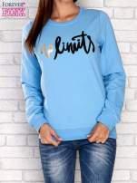 Niebieska bluza z napisem NO LIMITS