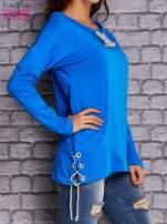 Niebieska bluza z wiązaniami                                  zdj.                                  3