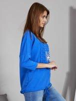 Niebieska bluza z motywem motyli                                  zdj.                                  5