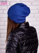 Niebieska czapka o warkoczowym splocie                                  zdj.                                  3