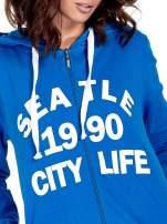 Niebieska damska bluza z kapturem i napisem SEATLE 1990                                                                          zdj.                                                                         6