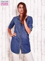 Niebieska denimowa koszula z podwijanymi rękawami                                  zdj.                                  1