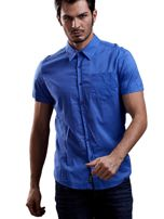 Niebieska gładka koszula męska Funk n Soul                                  zdj.                                  6