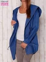 Niebieska jeansowa koszula narzutka z kapturem                                                                          zdj.                                                                         5