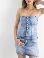Niebieska jeansowa sukienka bandage                                  zdj.                                  1