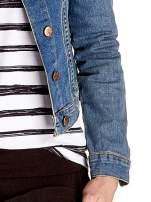 Niebieska klasyczna kurtka jeansowa damska                                  zdj.                                  6