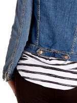 Niebieska klasyczna kurtka jeansowa damska