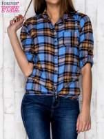 Niebieska koszula w kratę                                   zdj.                                  5