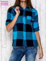 Niebieska koszula w szeroką kratę                                  zdj.                                  1