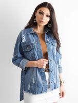 Niebieska kurtka jeansowa Mysterious                                  zdj.                                  5