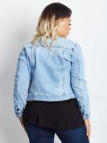 Niebieska kurtka jeansowa plus size Shimmers                                  zdj.                                  2