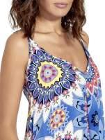 Niebieska letnia sukienka w kwiaty                                  zdj.                                  6