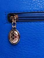 Niebieska listonoszka z odpinanym paskiem