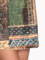 Niebieska mini sukienka w patchworkowy wzór                                  zdj.                                  5
