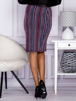 Niebieska pasiasta spódnica midi z zipem                                  zdj.                                  5