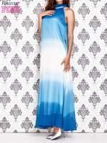 Granatowa sukienka maxi z wiązaniem na plecach