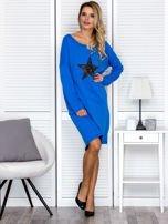Niebieska sukienka z gwiazdą                                   zdj.                                  4