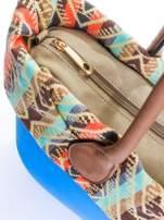 Niebieska torba gumowa z motywem azteckim                                                                          zdj.                                                                         6