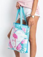 Niebieska torba z flamingiem                                  zdj.                                  2
