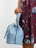 Niebieska torebka z łańcuszkiem                                  zdj.                                  2