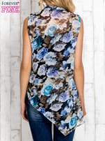 Niebieska warstwowa bluzka koszulowa w kwiaty                                  zdj.                                  4