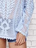 Niebieski ażurowy sweterek mgiełka                                  zdj.                                  5
