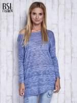 Niebieski melanżowy sweter z łezką na plecach                                  zdj.                                  3