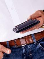Niebieski męski portfel skórzany z zewnętrzną kieszenią                                  zdj.                                  7