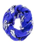 Niebieski szal w piórka