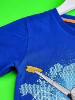 Niebieski t-shirt chłopięcy SAMOLOTY                                  zdj.                                  3
