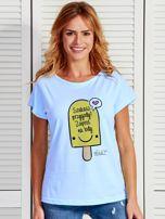 Niebieski t-shirt damski SZUKASZ PRZYGODY? by Markus P                                  zdj.                                  1